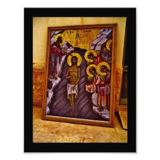 Pintura bautismal del sitio arte fotográfico