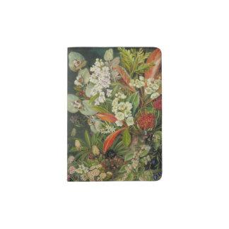 Pintura botánica tasmana de la flor portapasaportes