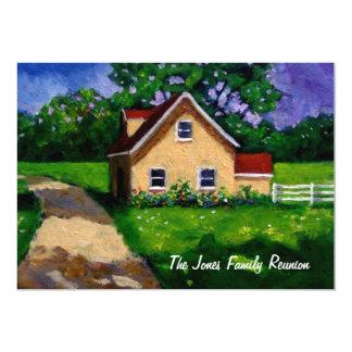Pintura: Cabaña del país: Reunión de familia Invitación Personalizada