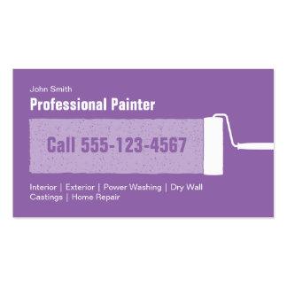 Pintura casera profesional púrpura de encargo tarjetas de visita