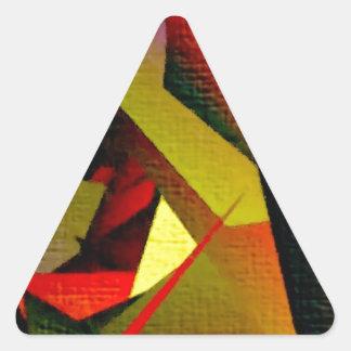 Pintura:  Centro grande de los fractales Pegatina Triangular