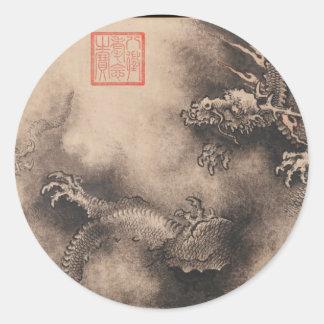 Pintura china por año del dragón pegatina de 2024