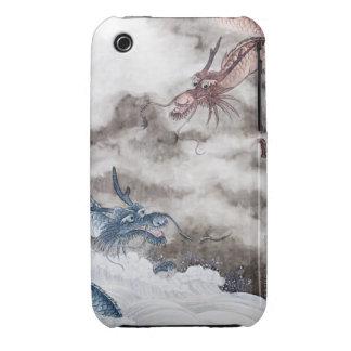 Pintura china tradicional, año del dragón 2 iPhone 3 Case-Mate carcasa
