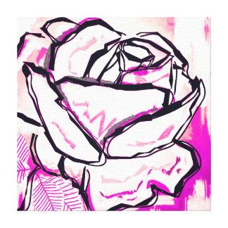 Pintura color de rosa rosada para el regalo del lienzo