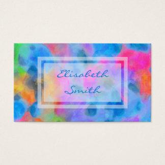 Pintura colorida abstracta tarjeta de visita