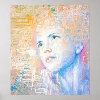 Pintura colorida del retrato del arte del soñador