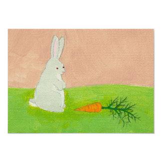 Pintura colorida fresca del arte moderno de la invitación 12,7 x 17,8 cm
