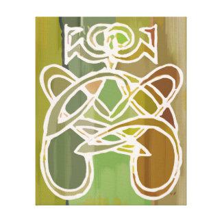 Pintura colorida verde de la mujer del arte