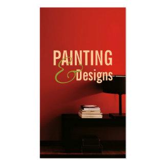 Pintura, construcción del pintor, diseño tarjetas de visita