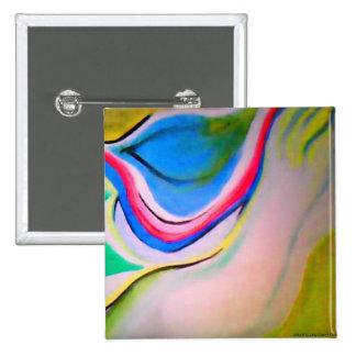 Pintura de acrílico abstracta de la ondulación chapa cuadrada 5 cm
