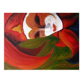 """Pintura de acrílico de """"Carnivale"""" - postal"""
