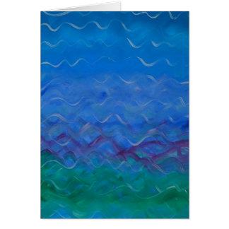 "Pintura de acrílico de la ""agua"" - en tarjeta de f"