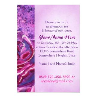Pintura de acrílico violeta azul preciosa de los invitación 12,7 x 17,8 cm