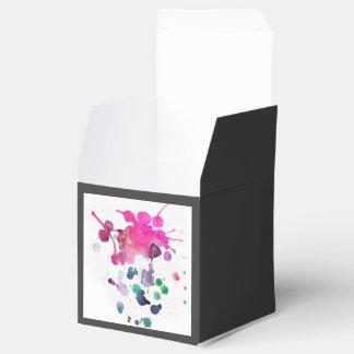 Pintura de aerosol multicolora caja para regalo de boda