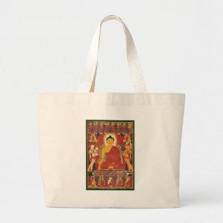 Pintura de Buda del vintage Bolsa De Mano