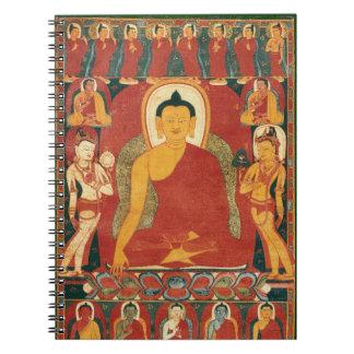 Pintura de Buda del vintage Libros De Apuntes