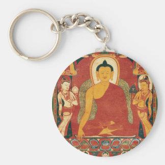 Pintura de Buda del vintage Llavero Personalizado