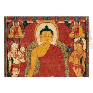 Pintura de Buda del vintage Tarjeta De Felicitación