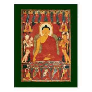 Pintura de Buda del vintage Postal