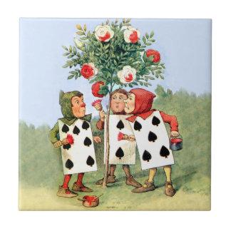 Pintura de Cardmen los rosas de la reina en el paí Azulejo Cuadrado Pequeño