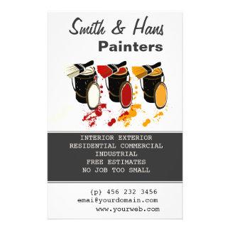 Pintura de casa de los pintores del decorador folleto 14 x 21,6 cm