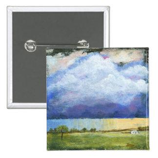Pintura de casa del paisaje del arte abstracto de chapa cuadrada 5 cm