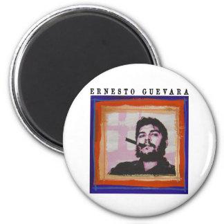 Pintura de Che Guevara Imán Redondo 5 Cm