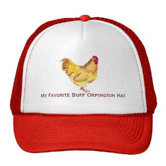 pintura de color de ante del gallo del orpington gorras