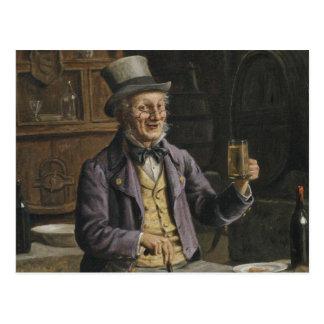 Pintura de consumición de la cerveza postal