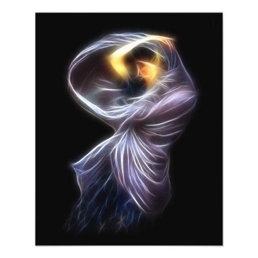 Pintura de Digitaces del fractal del Waterhouse de Tarjeton