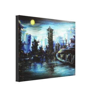Pintura de Futuretown Impresión En Lienzo