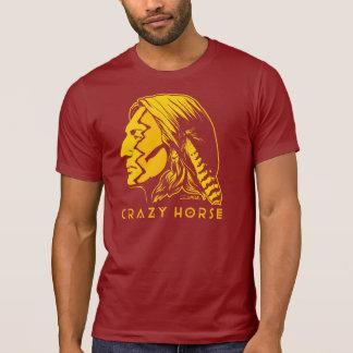 Pintura de guerra loca del caballo camisetas
