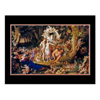 """Pintura de hadas """"Oberon y Titania """" Postal"""