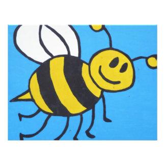 Pintura de la abeja tarjeta publicitaria