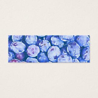Pintura de la acuarela de ciruelos azules tarjeta de visita pequeña