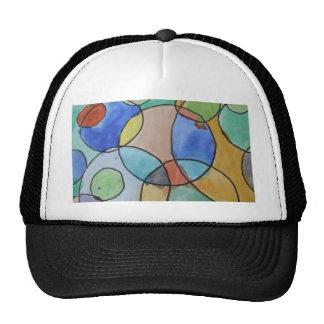 Pintura de la acuarela del arte colorido de los gorra