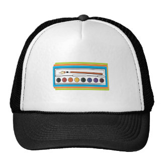 Pintura de la acuarela gorra