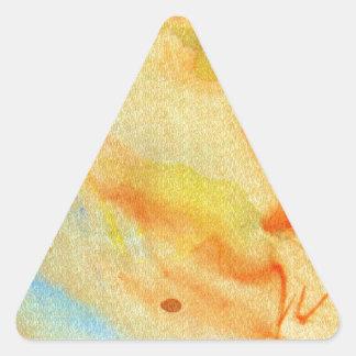 pintura de la acuarela pegatina triangular