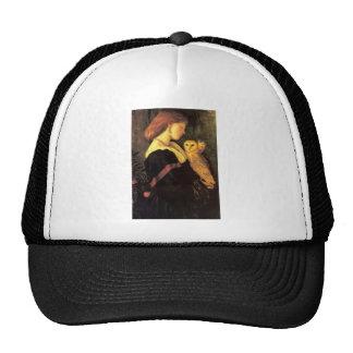 Pintura de la antigüedad del búho de chillido de l gorra