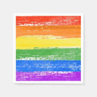 PINTURA DE LA BANDERA DEL ARCO IRIS DE LGBT SERVILLETAS DE PAPEL