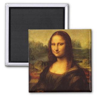 Pintura de la bella arte de Leonardo da Vinci Mona Imán Cuadrado