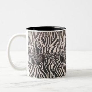 Pintura de la cebra de 3 D en la taza