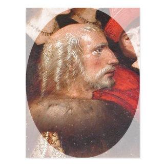 Pintura de la descripción de Cristóbal Colón. Postal