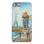 Pintura de la escena de la torre Eiffel de París Funda De iPhone 6 Barely There