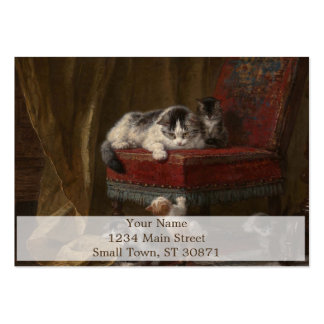 Pintura de la familia de gatos tarjetas de visita grandes