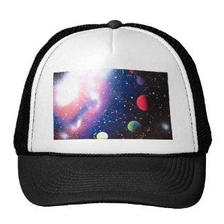 Pintura de la galaxia del espacio del arte de la gorras de camionero