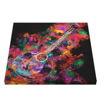 Pintura de la guitarra impresión en lienzo