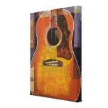 Pintura de la guitarra impresiones en lona estiradas