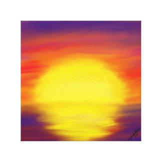 Pintura de la lona de la puesta del sol lienzo