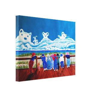 Pintura de la lona de los niños del arte de la